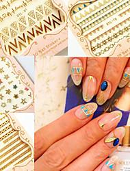 Абстракция / Панк - 3D наклейки на ногти - Пальцы рук / Пальцы ног - 10.5X7X0.6 - 6 - Прочее
