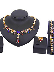 New fashion trendy gold plated (necklace,bracelet,earrings)jewelry sets