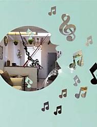 cheap -Creative Wall Clock DIY Musical Note Acrylic Clock Home Wall Decal Decor Art Sticker Mural Art Decal Wall Sticker
