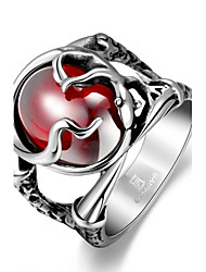 cheap -Men's Statement Ring - Stainless Steel, Zircon, Cubic Zirconia Skull Unique Design, Fashion 8 / 9 / 10 Red For Christmas Gifts