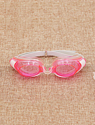 Swimming Goggles Waterproof Silica Gel Plastic Transparent Yellow Red
