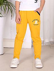 abordables -Pantalones Chico Algodón Manga Larga Primavera Otoño Todas las Temporadas Dibujos Gris Amarillo Azul