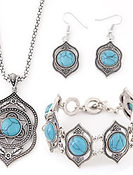 cheap -Women's Jewelry Set Luxury European Party Birthday Engagement Gift Daily Casual Resin Turquoise Alloy Earrings Necklaces Bracelets &