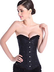 Corset sexy gothic clothing steel boned corset waist training plus size black bustiers casual women's corsets