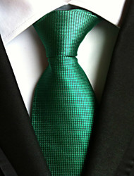 cheap -New Solid Green Classic Formal Men's Tie Necktie Wedding Party Gift TIE0009