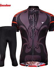 abordables -TASDAN Homme Manches Courtes Maillot et Cuissard de Cyclisme - Un ruban + bleu. Vélo Cuissard  / Short Maillot Ensemble de Vêtements,