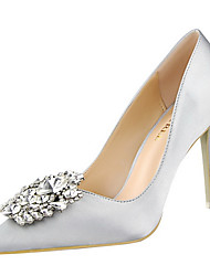 cheap -Women's Shoes Satin Spring / Summer / Fall Stiletto Heel Bowknot Silver / Gray / Golden / Wedding / Party & Evening / Dress / Party & Evening