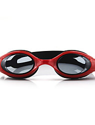 Swimming Goggles Anti-Fog Adjustable Size Anti-UV Waterproof Silica Gel PC Red Pink Blue Light Blue Transparent