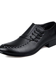 cheap -Men's Shoes Leatherette Spring / Fall Formal Shoes Oxfords Walking Shoes Black / Wedding / Party & Evening / Dress Shoes