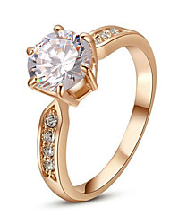 Žene Prsten Izjave Kristal Pink Zlatan Imitacija dijamanta Legura Klasik Moda Vjenčanje Party Nakit odjeće