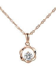 Dame Form Halskædevedhæng Krystal Simuleret diamant Legering Halskædevedhæng Kostume smykker