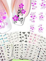 50PCS Hybrid Models Water Transfer Printing Nail Stickers