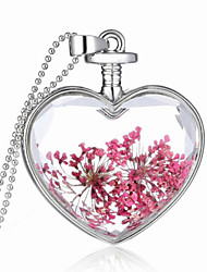 cheap -Men's Women's Heart Sterling Silver Pendant  -  Heart Necklace For Wedding Party Thank You