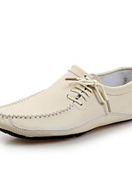 abordables -Homme Chaussures Cuir Printemps Eté Confort Mocassins et Chaussons+D6148 pour Décontracté Bureau et carrière Noir Beige Gris Marron Bleu
