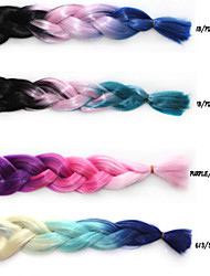 cheap -Color Chemical Fiber Braid African Black Wig Three Color Gradient Wig Hair Extensions