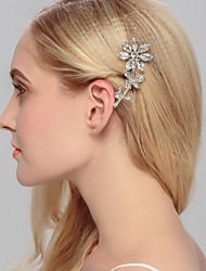 Women's Rhinestone Brass Headpiece-Wedding Special Occasion Casual Office & Career Outdoor Hair Clip 1 Piece