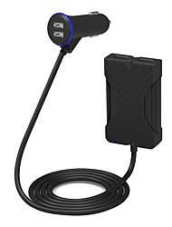 poweriq 36W intelligente a 4 porte caricabatteria per auto passeggeri nera 5v / 7.2a per iphone / ipad / samsung / Huawei etc