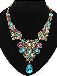 cheap -Women's Drop Jewelry Luxury European Elegant Festival/Holiday Statement Necklace Synthetic Gemstones Alloy Statement Necklace , Party