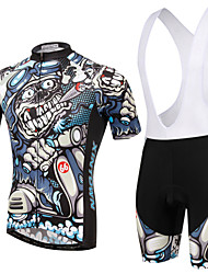 cheap -XINTOWN Short Sleeves Cycling Jersey with Bib Shorts Bike Bib Shorts Jersey Clothing Suits, Quick Dry, Ultraviolet Resistant, Breathable,