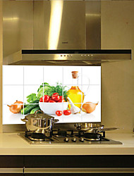 cheap -Fruits and vegetables Aluminum Copper Waterproof Foil Sticker Oil Proof Kitchen Wall Paper Decal Decoration