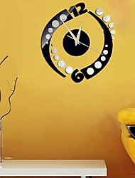 cheap -Fashion Rotation Sticker DIY Mirror Wall Clock Wall Sticker Home Decoration Enfeites Para A Casa Smile