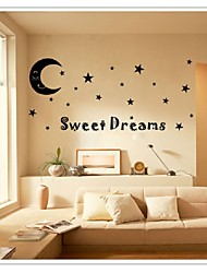 cheap -Sweet Dreams To Moon Stars Quote Art Vinyl Wall Stickers Decal Kids Home Fate