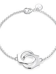 cheap -Women's Chain Bracelet / Charm Bracelet - Sterling Silver Locket Fashion Bracelet Silver For Wedding / Party