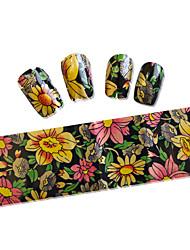economico -10PCS Adesivi per manicure Fiore Cartone animato Adorabile Cosmetici e trucchi Fantasie design per manicure