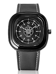 abordables -V6 Hombre Cuarzo Reloj de Pulsera Gran venta Piel Banda Encanto Negro Verde Gris