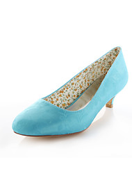 cheap -Women's Shoes Stretch Satin Spring / Summer Low Heel Purple / Light Blue / Ivory / Wedding / Party & Evening / Dress / Party & Evening