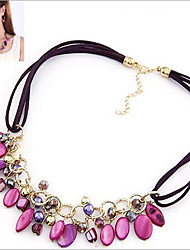 cheap -Women's Geometric Choker Necklace - Vintage, European, Fashion Screen Color Necklace For
