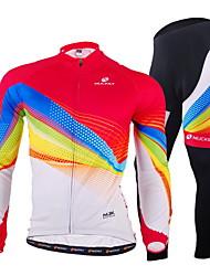 Nuckily Biciklistička majica s tajicama Muškarci Dugi rukav Bicikl Kompleti odjećeQuick dry Vjetronepropusnost Ultraviolet Resistant