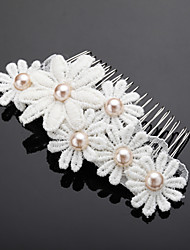 cheap -Imitation Pearl Alloy Hair Combs 1 Wedding Special Occasion Headpiece