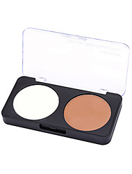 1 Powder Wet / Matte / Mineral Pressed powder Whitening / Long Lasting / Natural Face Multi-color Zhejiang MJ