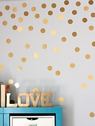 cheap -54 Gold Polka Dots Wall Sticker Baby Nursery Stickers Kids Golden Polka Dots Children Wall Decals Home Decor DIY Vinyl Wall Art 4cm