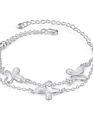 cheap -Lureme® Elegant Style Silver Plated Jewelry Personalized Butterfly Bracelets for Women Christmas Gifts