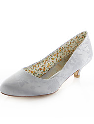 cheap -Women's Shoes Stretch Satin Spring / Summer Low Heel Purple / Light Blue / Ivory / Wedding / Party & Evening