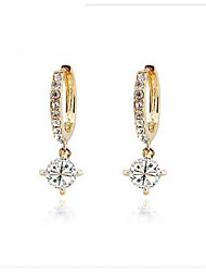 Crystal Zircon Earrings Drop Earrings For Women Hoop Earrings Fashion Jewelry Accessories