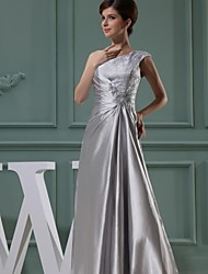 cheap -Ball Gown One Shoulder Floor Length Stretch Satin Mother of the Bride Dress with Bow(s) by LAN TING BRIDE®
