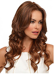 cheap -Brown Color Long Curly Syntheic Wig European Women Lady Favourite Style