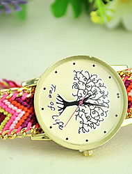 Women's New Fashion Ethnic Style Weaving Exquisite Handmade Tree of Life Bracelet Watch Cool Watches Unique Watches Strap Watch