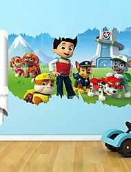 cheap -New Paw Patrol Dogs Wall Stickers 3D Cartoon Puppy Patrol Dog Children'S Living Room Wallpaper Christmas Decor