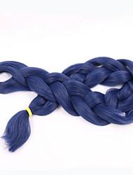 blue Box Braids Jumbo Hair Extensions 24inch Kanekalon 3 Strand 80-100g/pcs gram Hair Braids