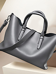 Women Bags All Seasons PU Shoulder Bag Tote Satchel for Shopping Casual Formal Office & Career Black Gray