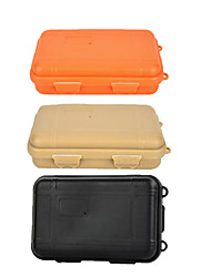 cheap -Outdoor Survival Water-Resistant Anti-Shock Sealed Storage Case Container - Black / Orange / Khaki (Large)