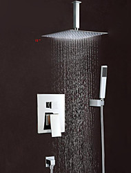 cheap -Shower Faucet - Contemporary Chrome Wall Mounted Brass Valve