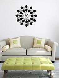 New DIY Mirror Quartz Wall Clock Vinyl Sticker Home Modern Decor Black /Red Silver