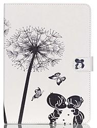 enfant de pissenlits couverture stand cuir folio cas avec support pour iPad air 2