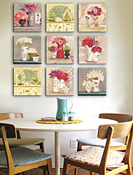 cheap -E-HOME® Stretched Canvas Art  Bunch Of Flowers In A Vase Series Decoration Painting MINI SIZE One Pcs