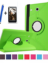 "cheap -New 360 Rotating PU Leather Stand Case Cover For Samsung Galaxy Tab E 9.6"" SM-T560 Tablet+Stylus+Film"